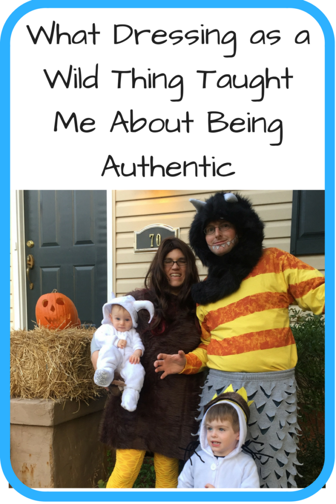 What Dressing as a Wild Thing Taught Me About Being Authentic. (Photo: White family dressed in costume as Wild Things from Where the Wild Things Are in front of a house)