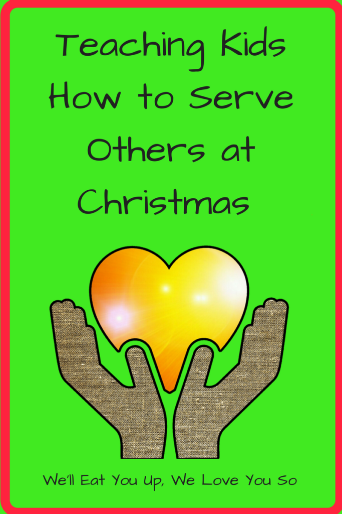 Teaching Kids How to Serve Others at Christmas (Photo: Dark-skinned hands holding a orange and yellow heart)
