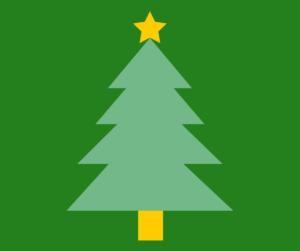Cartoon of a Christmas tree