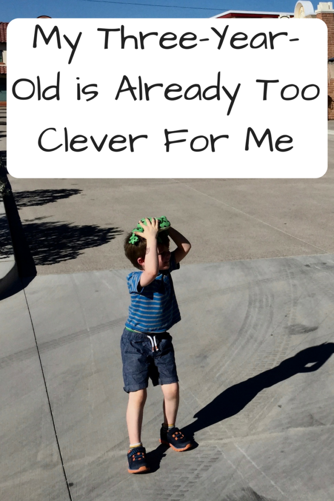 My Three-Year-Old is Already Too Clever For Me