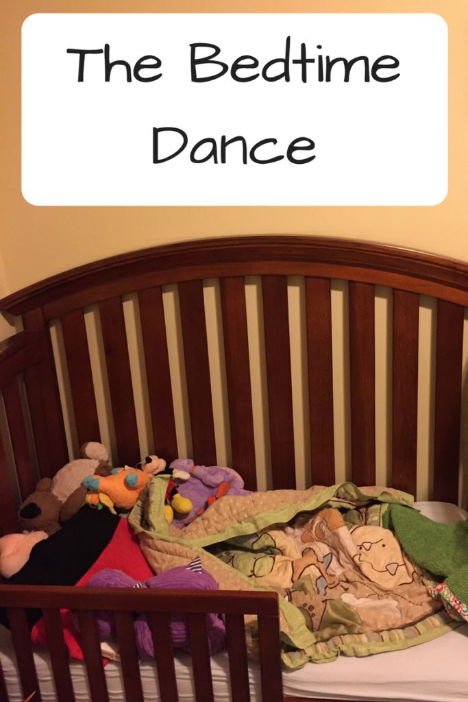 The Bedtime Dance. Putting a four-year-old to bed can feel like you're learning the steps to a completely new dance. (Photo: Toddler bed with stuffed animals and a blanket.)