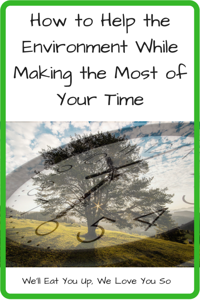 How to Help the Environment While Making the Most of Your Time (Photo: A photo of a green tree in a field with a clock superimposed over it)